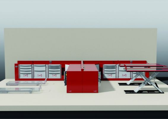 Rendering 3d Workshop Furniture